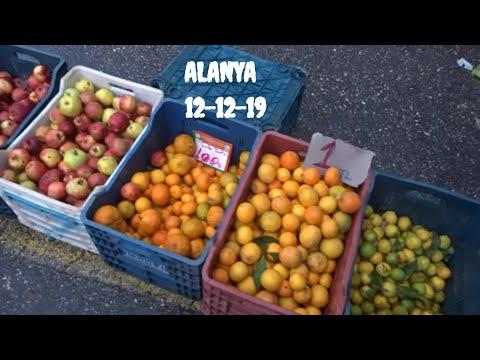 Аланья 12 декабря Товары и цены на базаре в Тосмуре Alanya