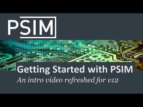 Getting Started With PSIM