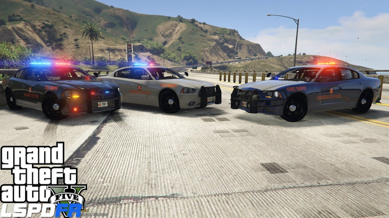 GTA 5 LSPDFR Police Mod 212 | Georgia State Highway Patrol | Catching  Speeders | SAHP Charger Part 1