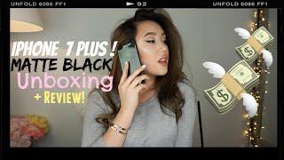 IPHONE 7 PLUS MATTE BLACK UNBOXING HAUL & REVIEW! │Jennifer Drs ♡