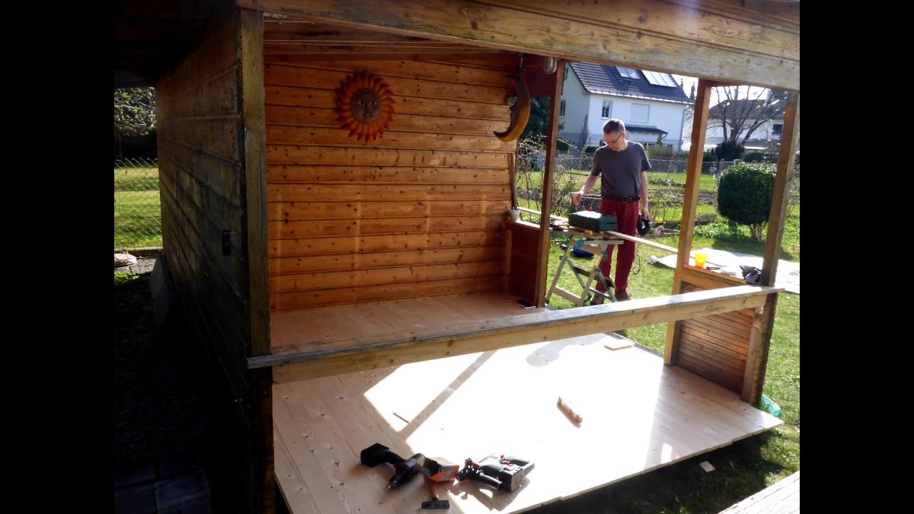 Gartenhaus Fußboden Dämmen ~ Ein neuer boden für unser gartenhaus youtube