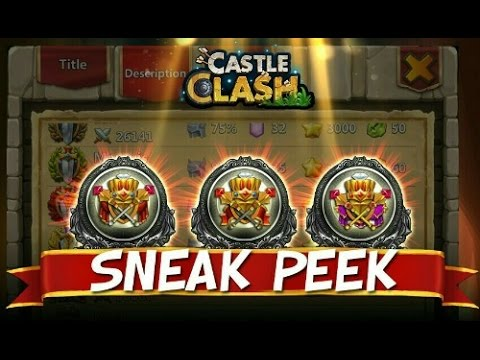 Castle Clash New Might Titles Update 1.2.65