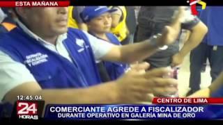 Mesa Redonda: comerciante ataca a fiscalizador municipal durante operativo (2/2)