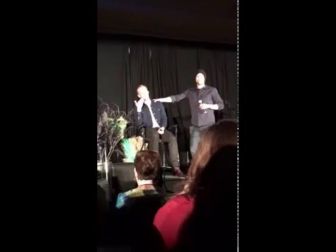J2 crash the panel Jake Abel to say goodbye to their youngest brother DCCon
