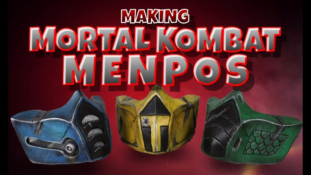 mortal kombat sub zero mask template