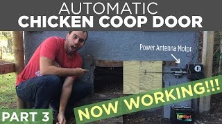 Diy Automatic Chicken Coop Door Opener Build | Part 3