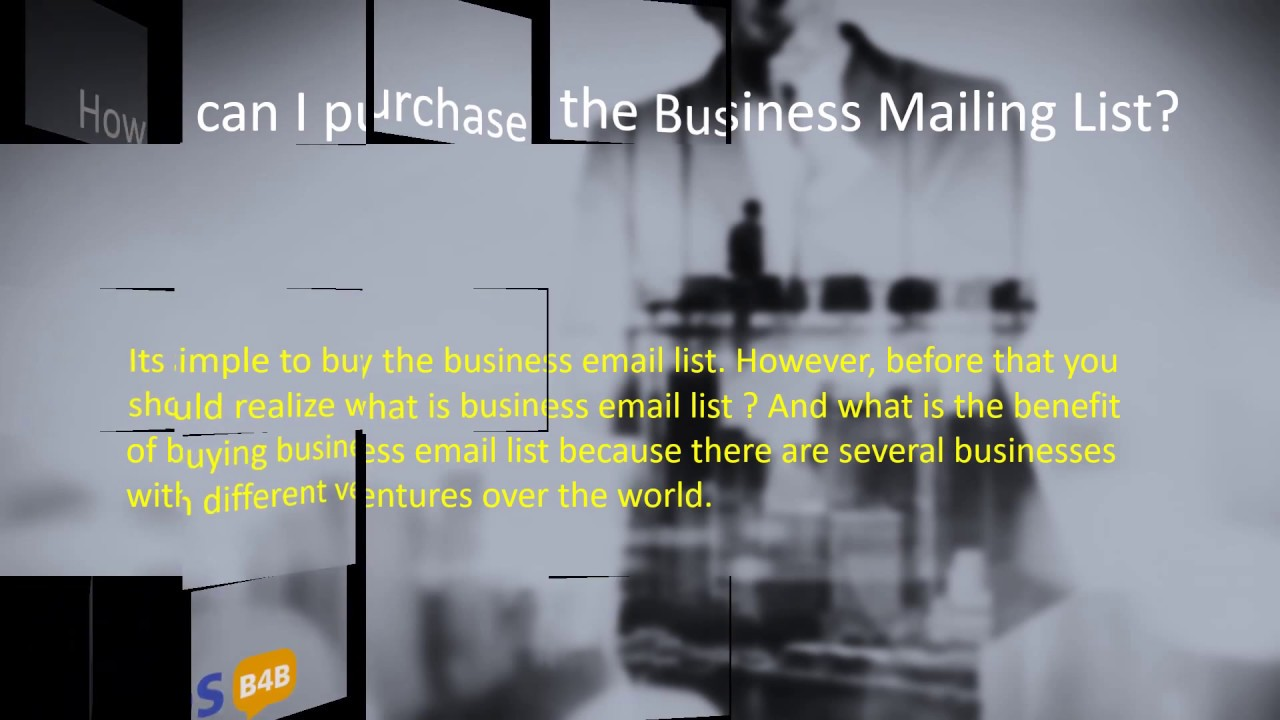 What are the uses of the Business Mailing Lists? #business #email #mailing  #database #lists #USA #UK