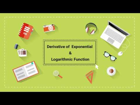 Derivative of an Exponential and Logarithmic Function | Part 2 | Calculus | Digital School