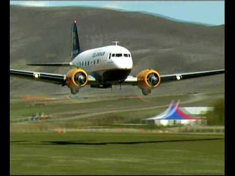 DC-3 low pass engine SOUND!