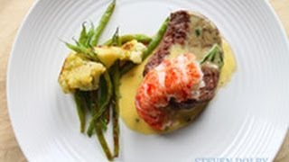 Filet Mignon and Lobster tail with Bearnaise sauce recipe (Valentine
