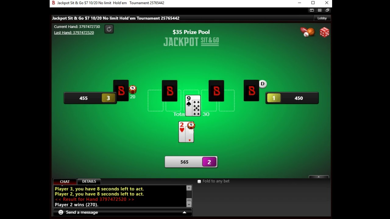 $2 jackpot sit and go bovada