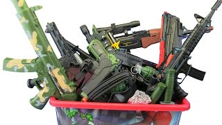 box of toys guns box toys military police equipment whats in the box ? video for kids