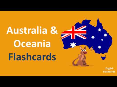 Country Flags HD l Part. 4 l Learn Countries of Australia & Oceania l