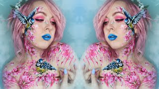 Birds & Blossom | Makeup & Body Paint