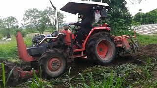 รถไถคูโบต้า 3408 ติดเทอร์โบใหญ่กาเร็ต - Face Book : Paisan Janjaroen