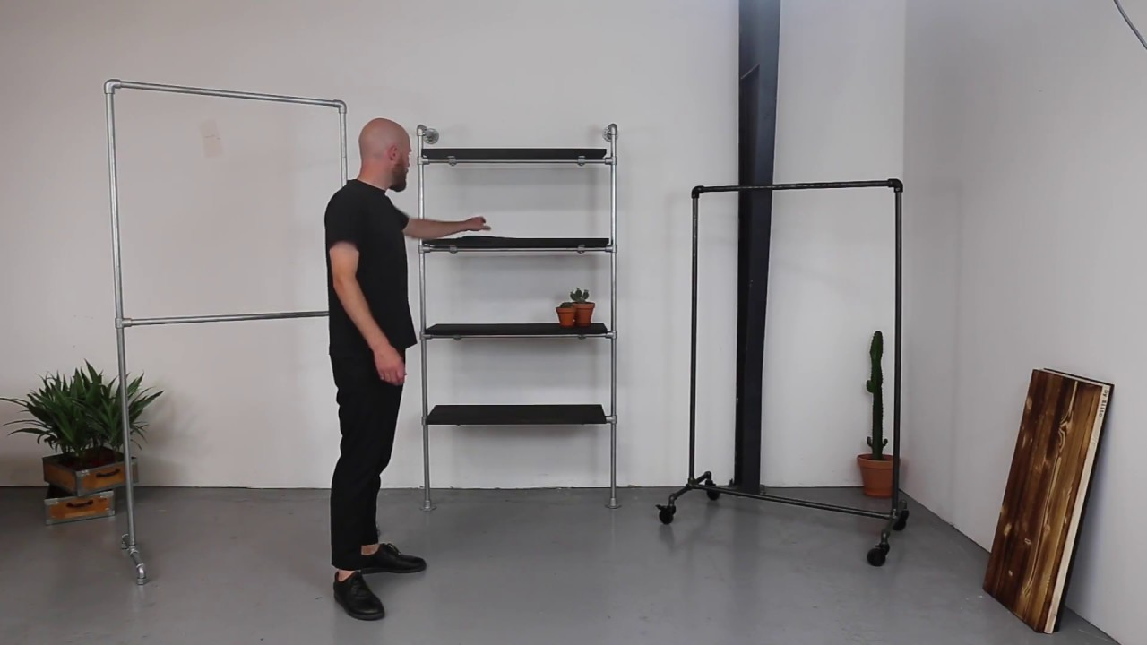 Svært Tøjstativer i stålrør fra Ziito - YouTube WC-96