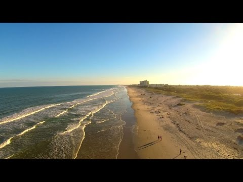 Lori Wilson Park Cocoa Beach Golden Afternoon Aerial Video