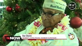Santa takes the oldest living Pearl Harbor survivor to Hawaii