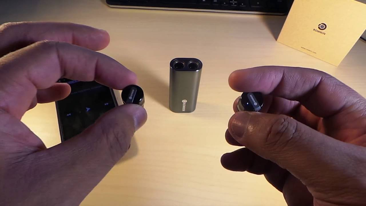 9451af35682 Rowkin Bit Charge: Smallest Stereo Bluetooth Earbuds Ever - YouTube