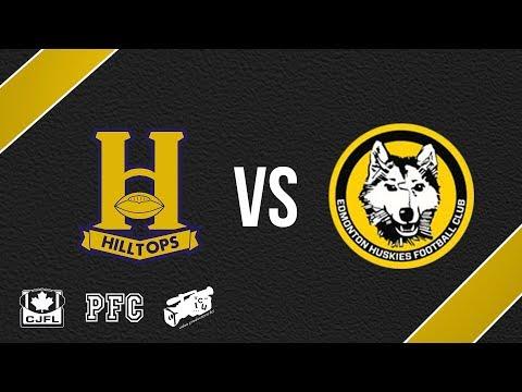 Saskatoon Hilltops at Edmonton Huskies - Oct. 7, 2017 (PFC FOOTBALL ACTION)