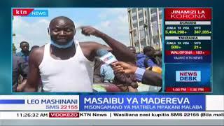 Dereva ashikwa na gadhabu kutokana na msongamano wa malori Malaba