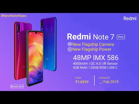 Redmi Note 7 Pro OFFICIAL- Launch Date | Price | Specifications - India Release Date Of Redmi Note 7 Mp3