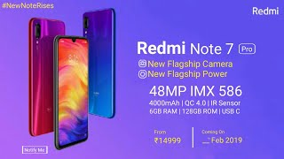Redmi Note 7 Pro OFFICIAL- Launch Date | Price | Specifications - India Release Date Of Redmi Note 7