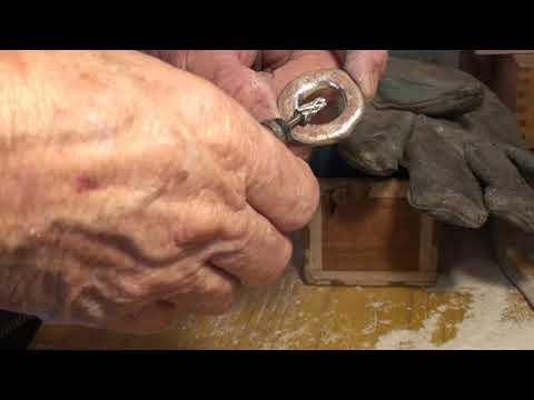 Silver casting molten silver part 2