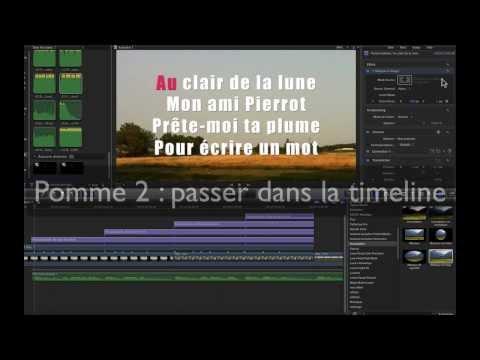 FCPX animation de texte karaoke