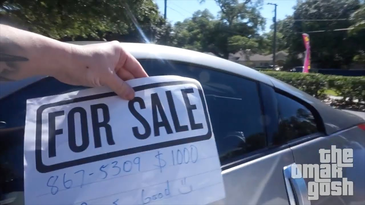 Putting For Sale Signs On Random Cars YouTube – Free for Sale Signs for Cars