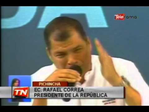 Presidente Correa minimiza marchas indígenas