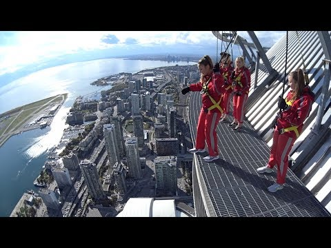 CN Tower EdgeWalk- 1,168ft (FULL EXPERIENCE) Toronto, Canada