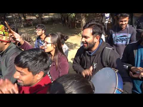 Students spontaneously responded JNUSU's call for a university strike