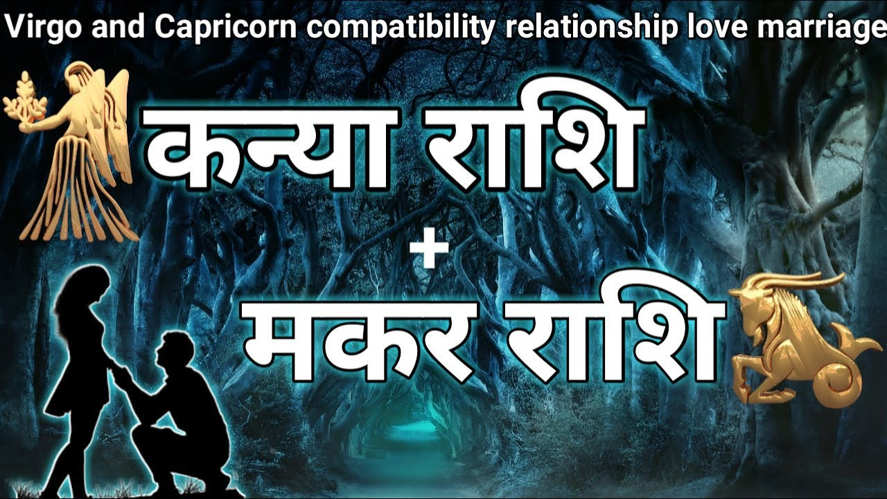कन्या राशि - मकर राशि  virgo and capricorn compatibility  love relationship    marriage astrology  
