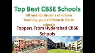 Toppers From Hyderabad CBSE Schools