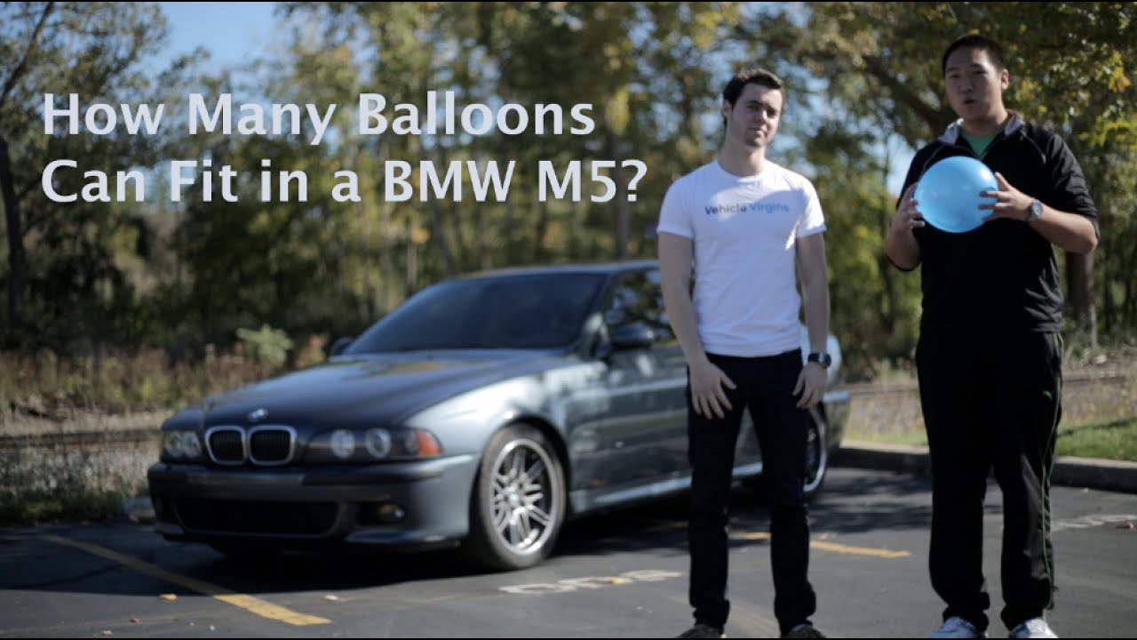 How Many Balloons Can You Fit In a BMW M5?