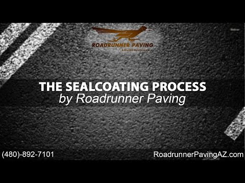 The Sealcoating Process   Roadrunner Paving & Asphalt Maintenance