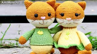 Амигуруми: схема Пара Котят. Игрушки вязаные крючком - Free crochet patterns.