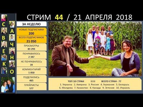 Семья Савченко. Стрим 44 (21 апреля 2018) Ответы на вопросы друзей и подписчиков.