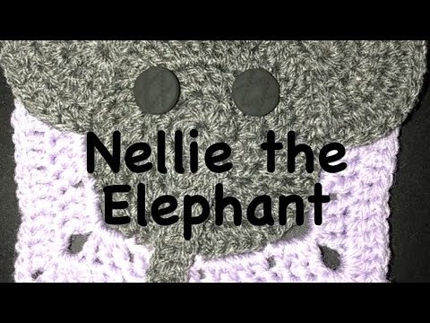 Granny Square crocheted baby blanket with elephant accent. Order ... | 360x480
