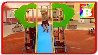 Playing at the Park on the Playground for Kids & Children W: Slides, Swings, Climbing on Bogdan's Sh