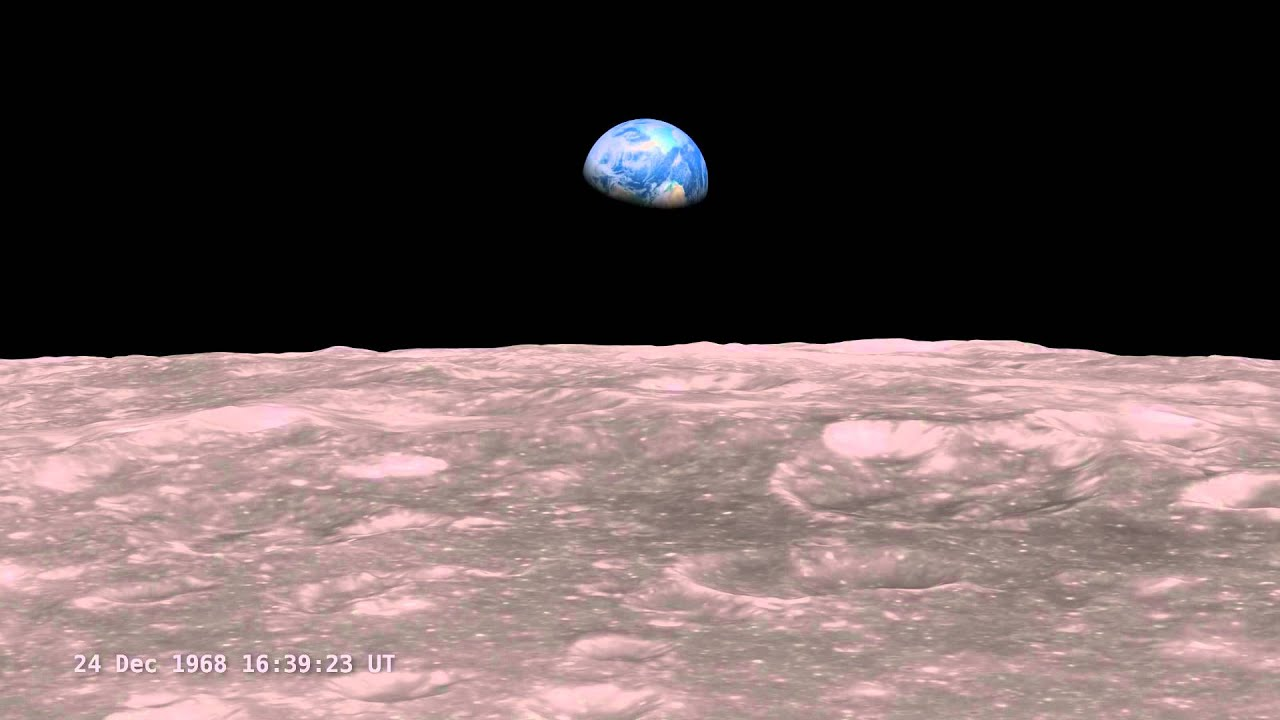 apollo 8 earthrise visualized (1968.12.24) [1080p] [3d converted