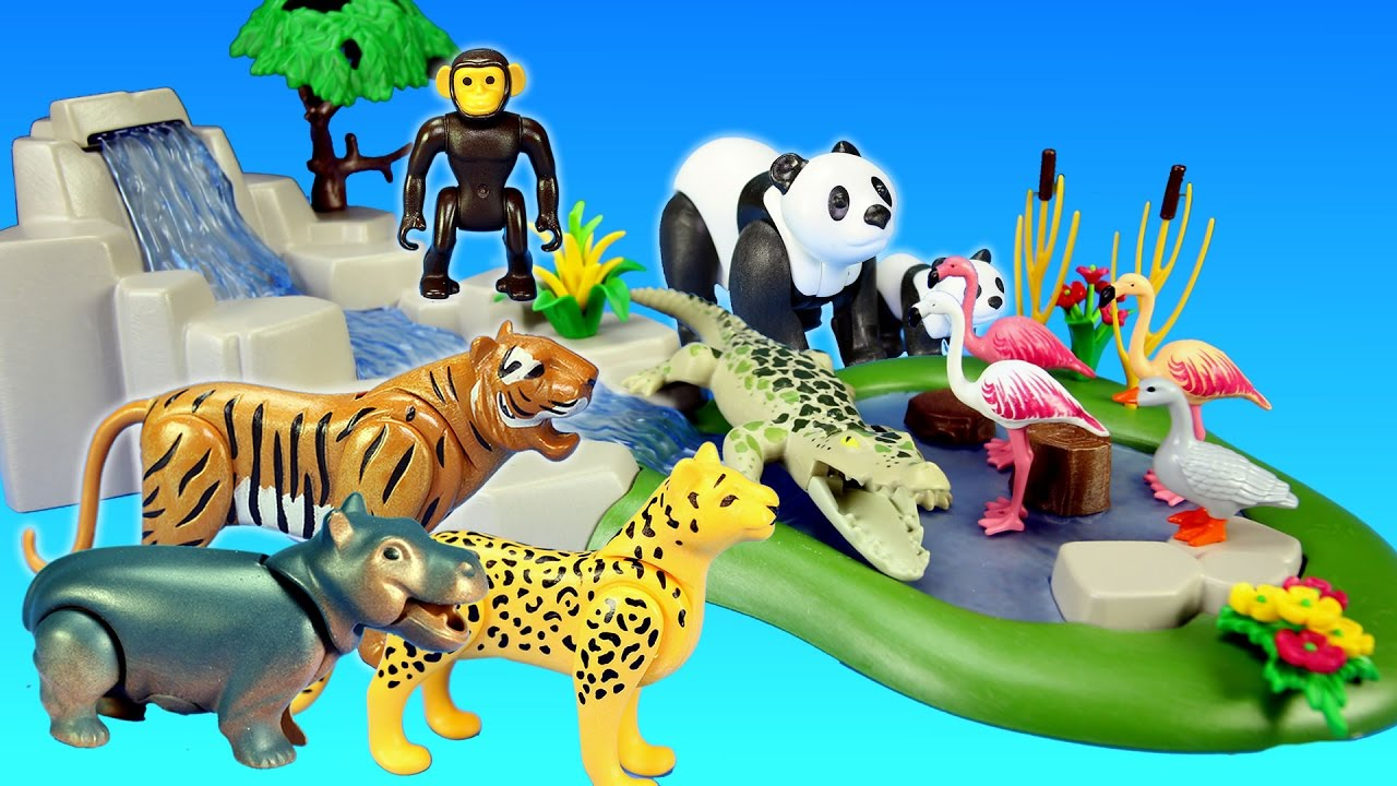Playmobil Jungle Forest Zoo Wild Animals Toys Collection