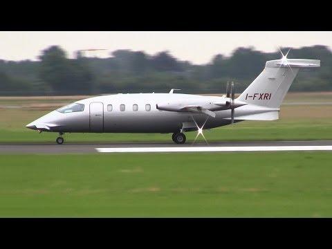 Piaggio P.180 Avanti II ► Takeoff ✈ Groningen Airport Eelde