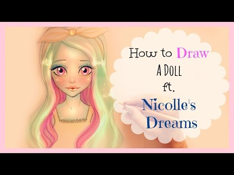 ♡ How to Draw and Color a Doll | Collab. with Nicolle's Dreams ♡