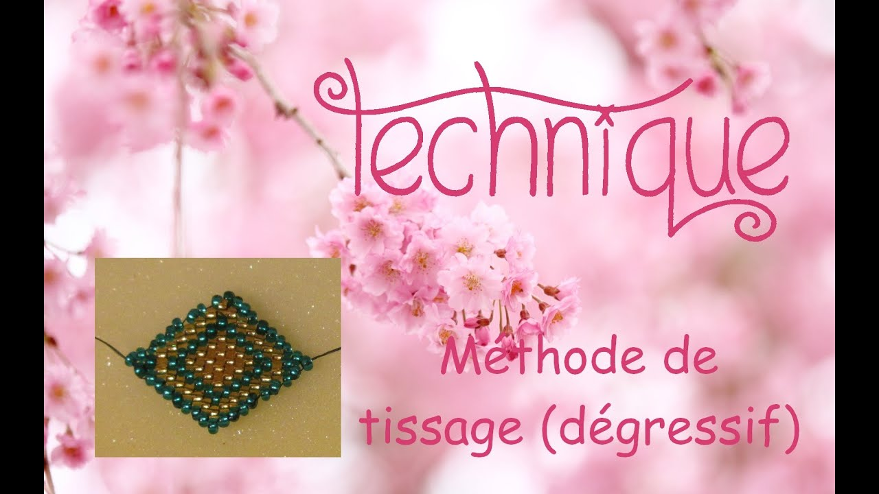 Turbo Technique] Tissage de perles : méthode 2, dégressif. - YouTube UE16