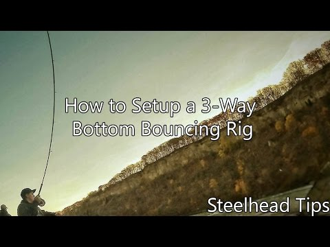 How to Setup a Bottom Bouncing/Three Way Swivel Rig! For Steelhead, Rainbow Trout and Brown Trout!