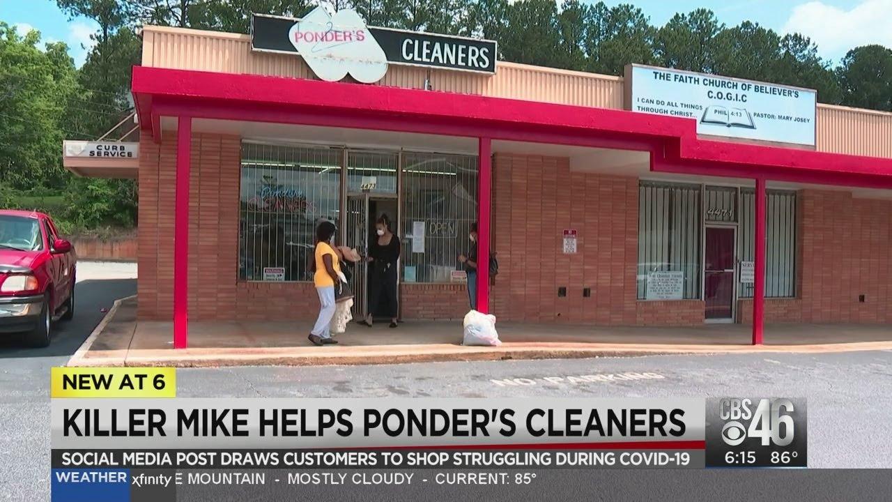 Rapper Killer Mike helps black owned-business in Atlanta