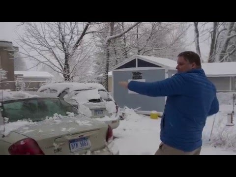 Winter Storm Petros Timelapse Lansing Michigan