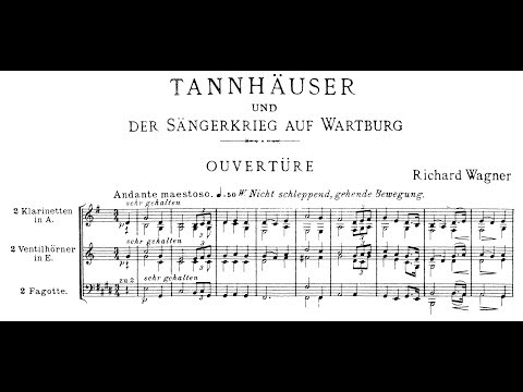Tannhauser [Excerpts] by Richard Wagner (Audio + Full Score)